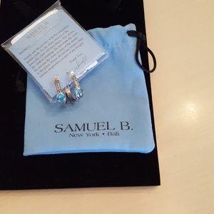 Jewelry - Samuel B. Blue Topaz Sterling Silver Earrings